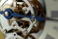 Gears from an old watch or clock turn into accessories for Steampunk style.