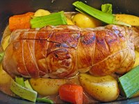 Roast with vegetables