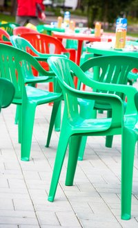 Resin chairs are highly-resistant to paint adhesion.