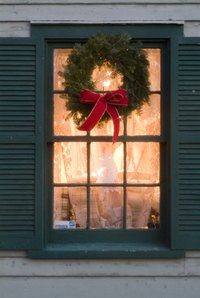 A simple wreath sets the holiday mood like no other decoration.