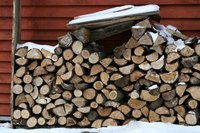Firewood needs to be stacked to allow it to dry properly.