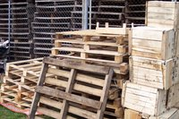 Wooden pallets are an excellent size to use for building a compost bin.
