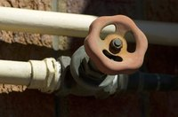 PVC and brass pipe fittings use the same national pipe thread (NPT) connections.