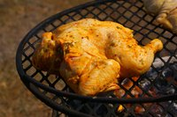 If grilled improperly, chicken will appear done on the outside while remaining undercooked inside.