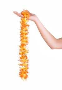 Turn some common craft and party supplies into a Tahitian costume.