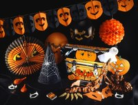 Decorations help set the mood for a Halloween party.