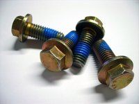Hex nuts are six-sided fasteners that work with hex bolts.