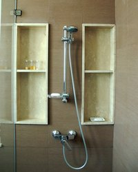 Shower enclosures come in all types of shapes and sizes.