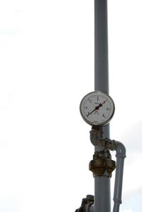 Pressure gauges can indicate level too.