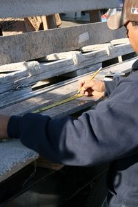 Marble thresholds can be cut on site with a wet saw.