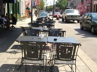 Bring the sidewalk cafe home with a bistro table to your patio.