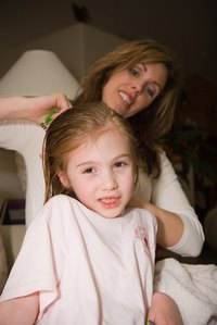 Lice is easily transmitted through hair.