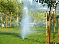 Cap a faulty sprinkler head to prevent it from damaging your lawn and the rest of your sprinkler system.