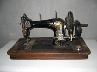 A vintage sewing machine