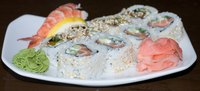 Sushi rice complements the flavor of many types of seafood.