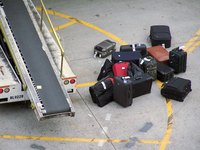 Luggage frequently gets dirty, stained and wet.