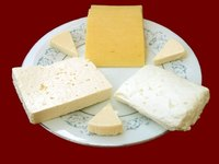 Hard cheese comes in a range of different strengths.