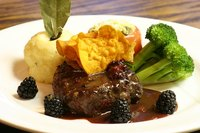 Filet mignon pairs well with classic mashed potatoes and steamed or roasted vegetables.