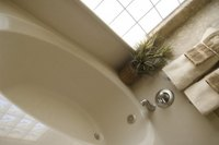 Fiberglass bathtubs can be repaired if damaged.