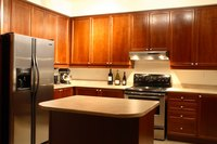 Stainless steel appliances are easy to maintain.