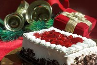 Prepare red velvet cake in square or round cake pans.
