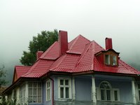 There are a lot of options available for homes with red roofs.