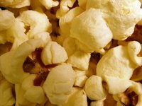 The Whirley Pop Popcorn Popper makes twice as much popcorn as a microwavable popcorn bag.