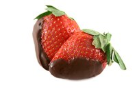 Many fruits become a treat when dipped into chocolate.