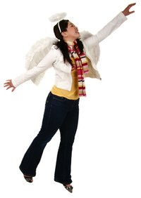 Wings and a halo will make your costume easily recognizable as an angel.