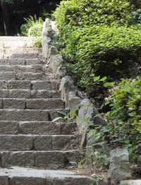 You don't have to be a stone mason to build rock steps.