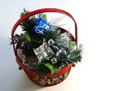 Use a gift basket to arrange several small gift items.