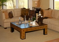 Use linseed oil and rotten-stone to remove stubborn cigarettes stains on a coffee table.