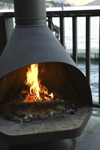 Wood fire pits are made from a variety of materials.
