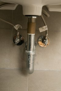 Always turn off the water valves before removing a Danze faucet.