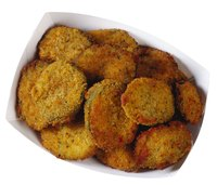 Breaded squash provides a crispy treat that you can freeze for later.