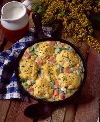 Chicken and dumplings is a Southern staple.