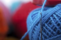 A yarn needle comes in handy for weaving in loose ends.