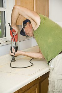 Use reciprocating saws in tight spaces.