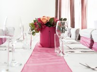 Table runners can create a layered, elegant table.
