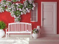 A white front door is often associated with creativity.