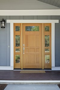 A worn threshold can detract from the look of your entry door.