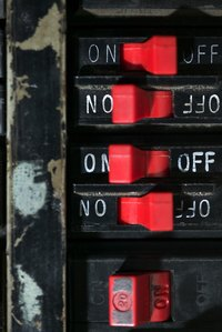 "A circuit breaker ""trips"" to off when a problem occurs on a circuit."