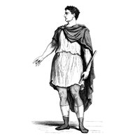 A Roman tunic is a simple garment, typically cinched at the waist.