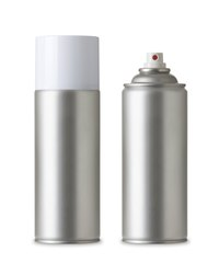 Spray paint offers smooth, even application of the metallic paint.