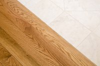Wood and travertine have drastically different prices.
