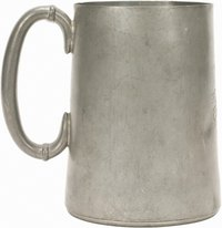 Pewter beer steins require hand wshing.