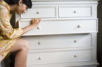 Keep your drawers in the dresser by installing simple drawer stops.
