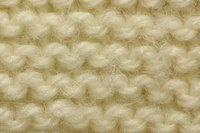 Garter stitch looks like rows of interlocking bumps.