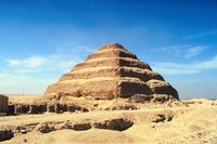 Egyptian step pyramids were slightly different from their Mesopotamian counterparts.