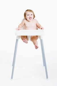 Use a bit of tulle to dress up your little girl's highchair.